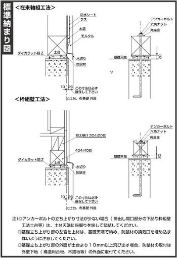 ダイカラット靭Z 標準納まり図
